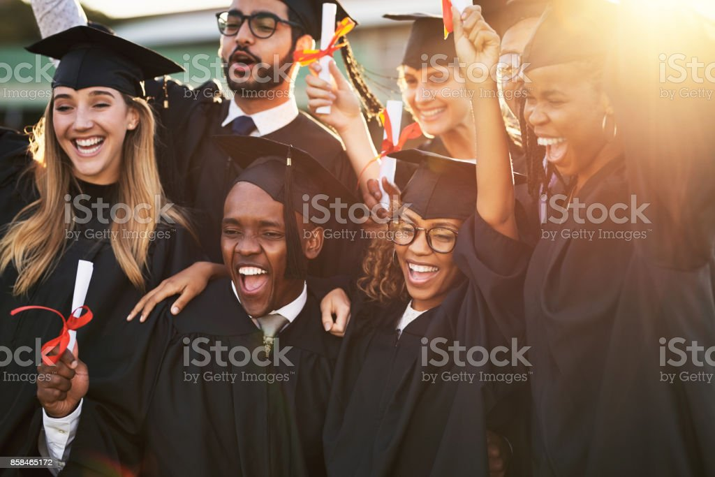 Our parents are so proud of us stock photo