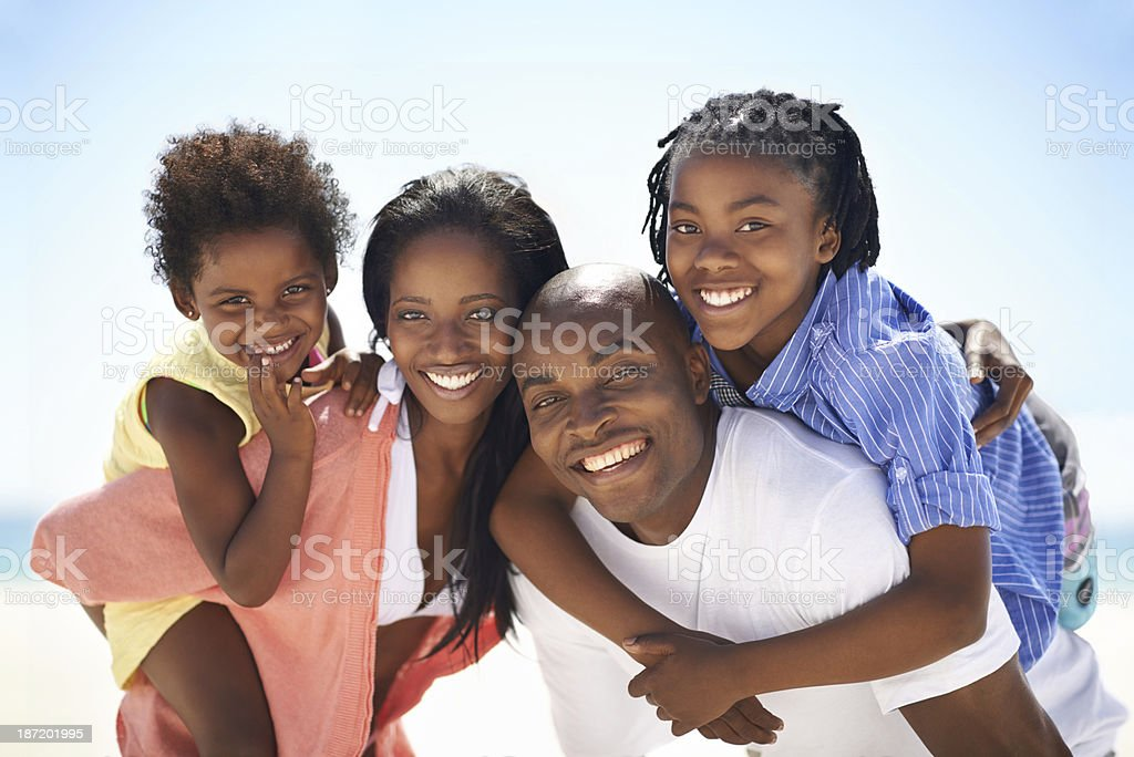 Our parents are so strong! stock photo