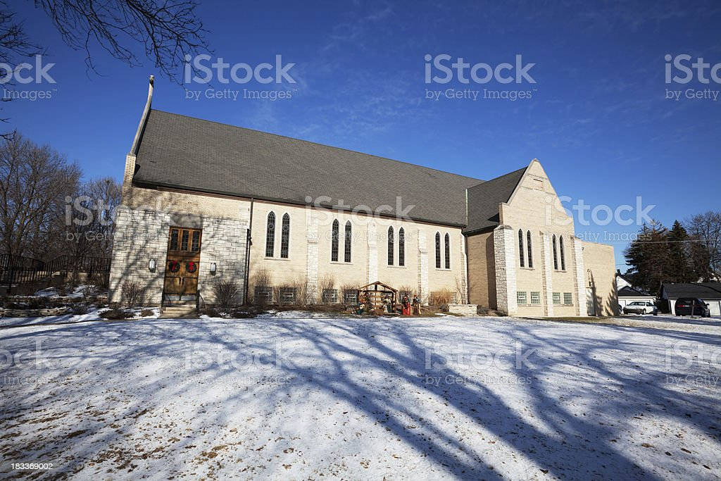 Our Savior Lutheran Church in Norwood Park, Chicago royalty-free stock photo