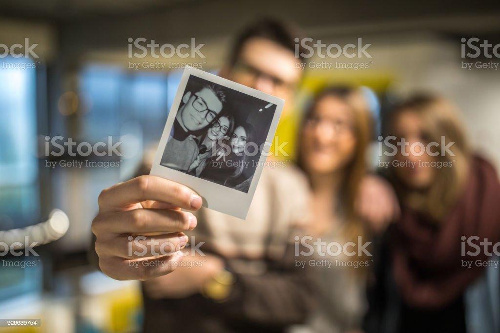 Nosso selfie - foto de acervo