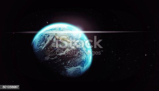istock Our spaceship through the dark 501058687