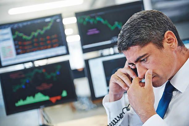 Our stocks are in trouble? stock photo