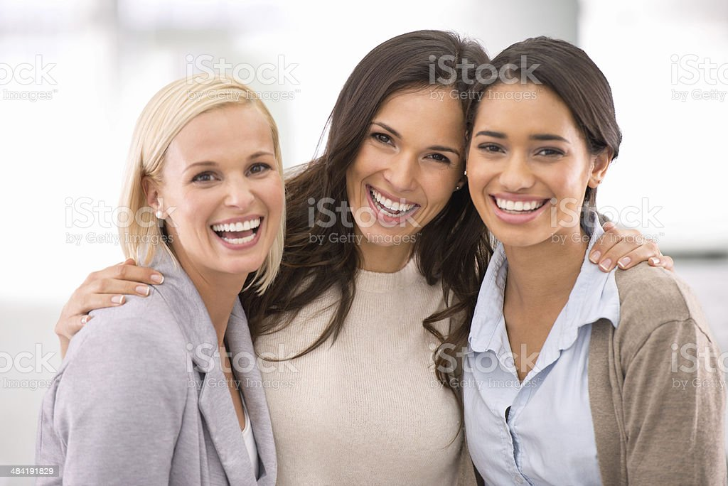 Our success is rooted in our firm friendship! stock photo