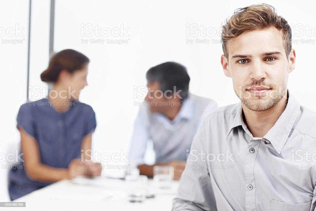 Our team always gets the job done! royalty-free stock photo