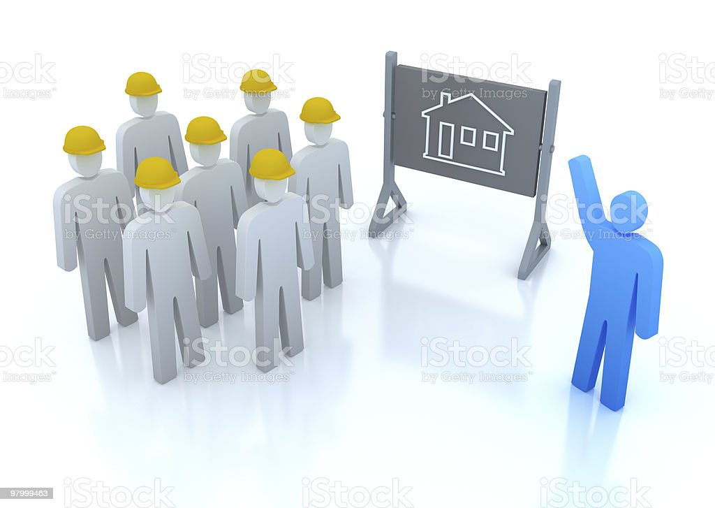 Our team is ready to build the house royalty-free stock photo