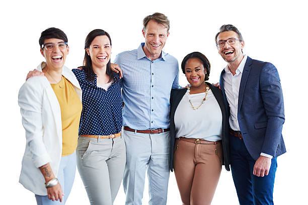 Our team strength lies in our differences stock photo