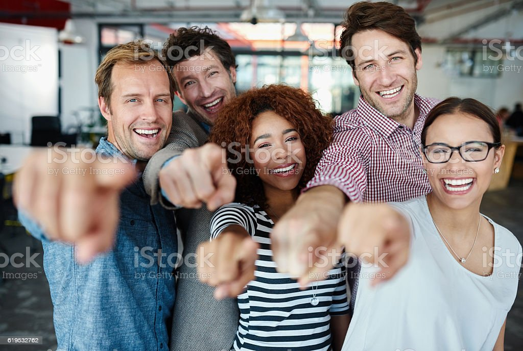 Our team wants you! stock photo