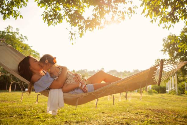 our time in hammock - amaca foto e immagini stock