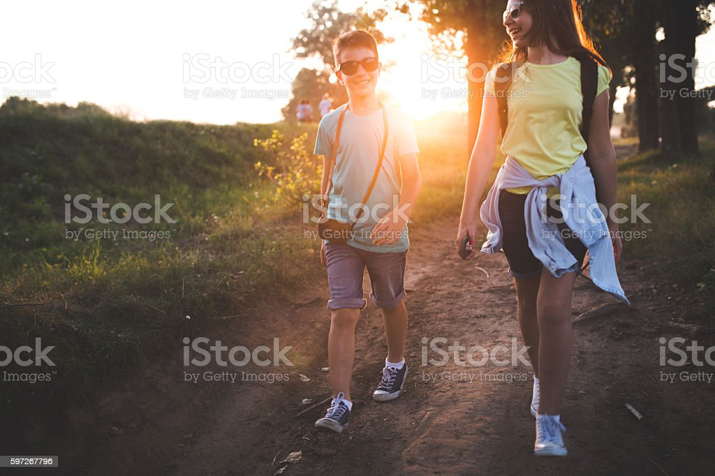 Our walk royalty-free stock photo