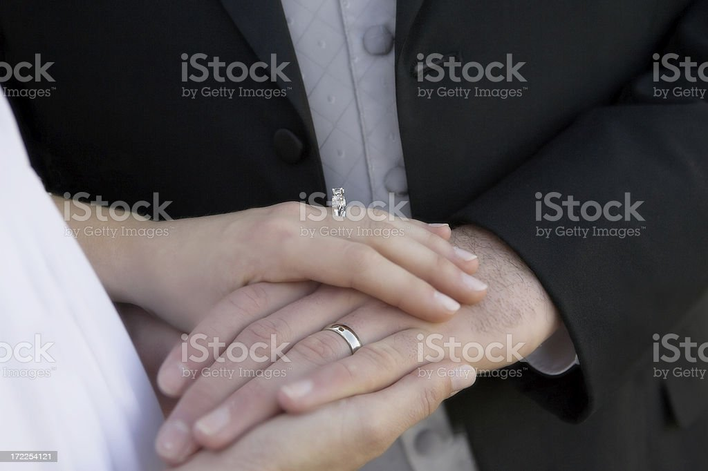Our Wedding Day royalty-free stock photo