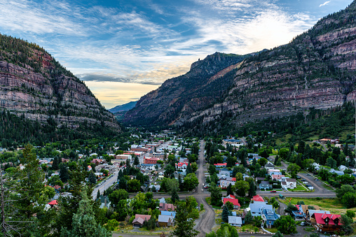 Ouray is a Home Rule Municipality that is the county seat and the most populous city of Ouray County, Colorado, United States.The city population was 813 at the U.S. Census 2000 and 1,000 as of the U.S. Census 2010.The Ouray Post Office has the ZIP code 81427. Ouray's climate, natural alpine environment, and scenery frequently has it referred to as the