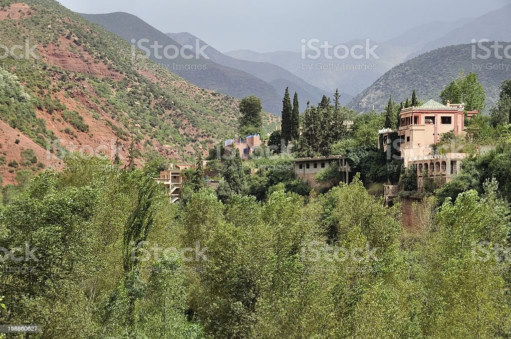 Ourika Valley in Morocco stock photo