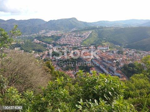 istock Ouro Preto City from Morro São Sebastião Viewpoint, Ouro Preto, State of Minas Gerais, Brazil. 1304374083