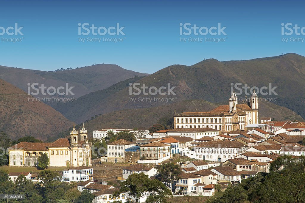 Ouro Preto in Minas Gerais, Brazil royalty-free stock photo