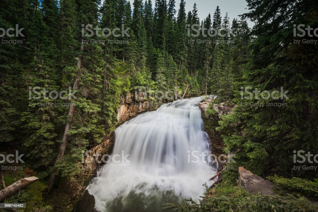 Ousel Falls Long Exposure stock photo