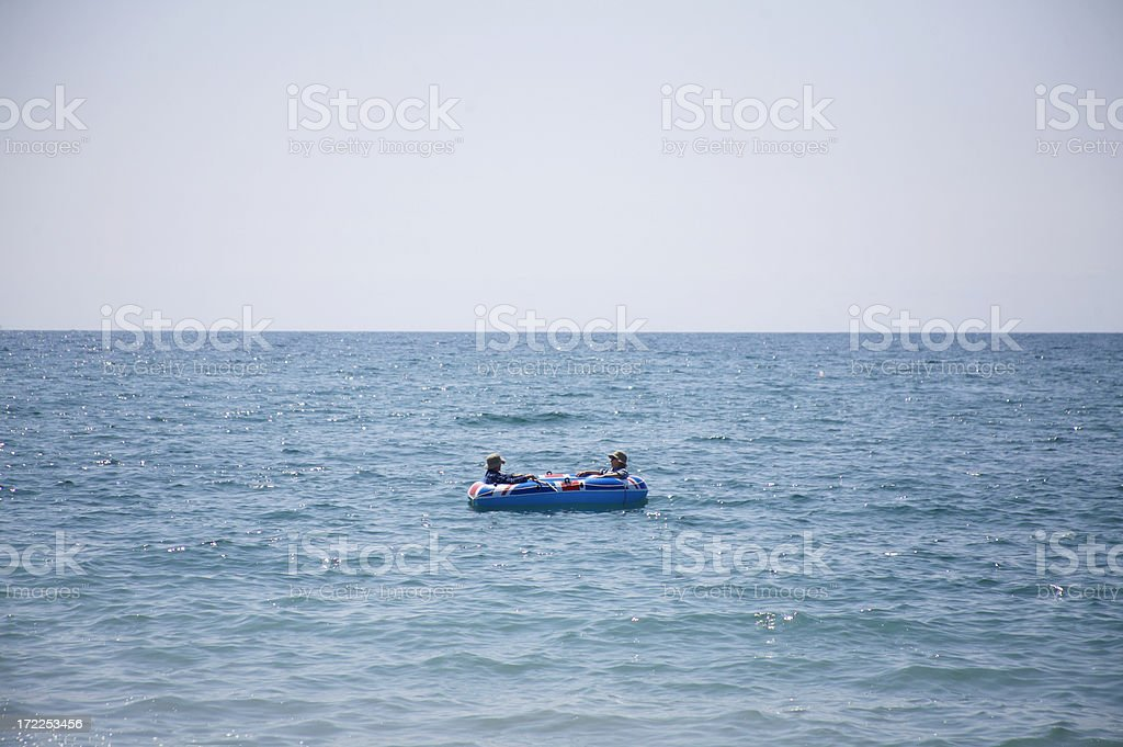 Out at sea stock photo