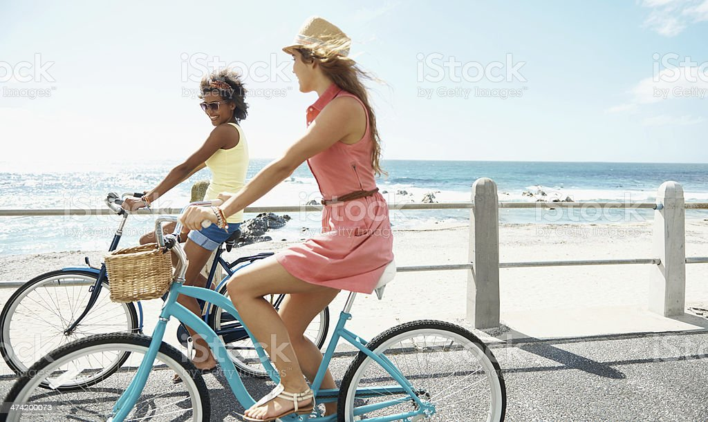 Out cycling in the fresh air stock photo