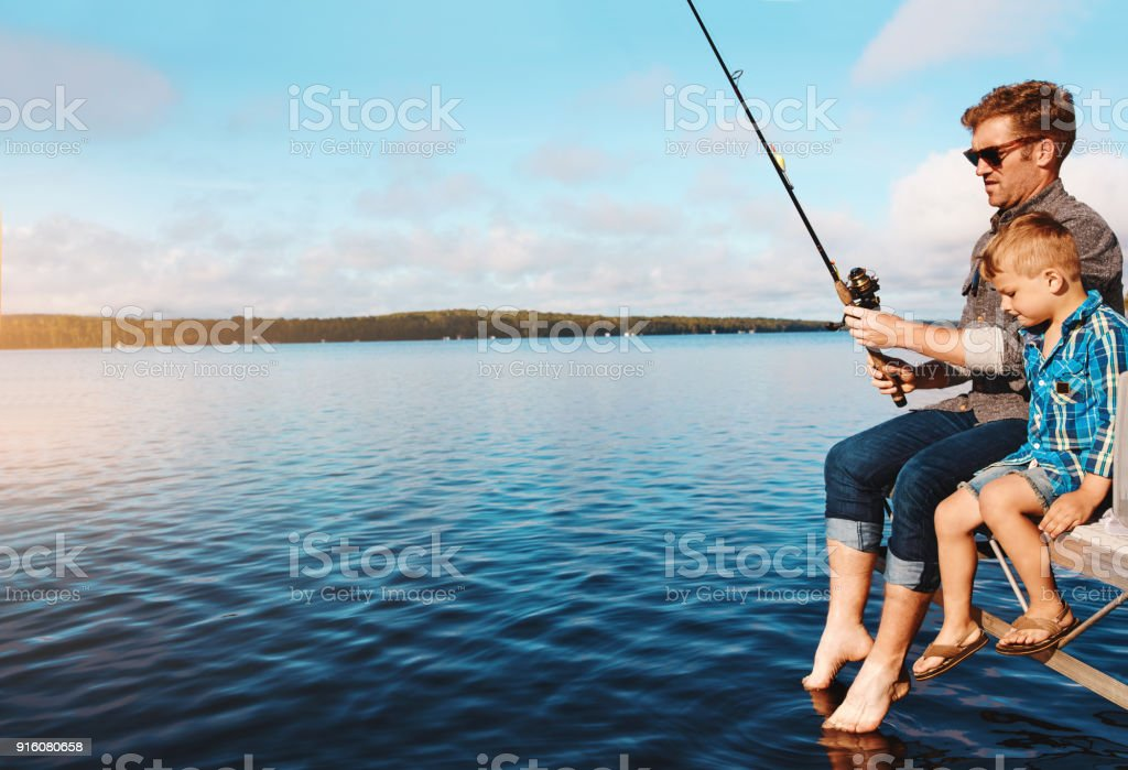 Out for a catch stock photo