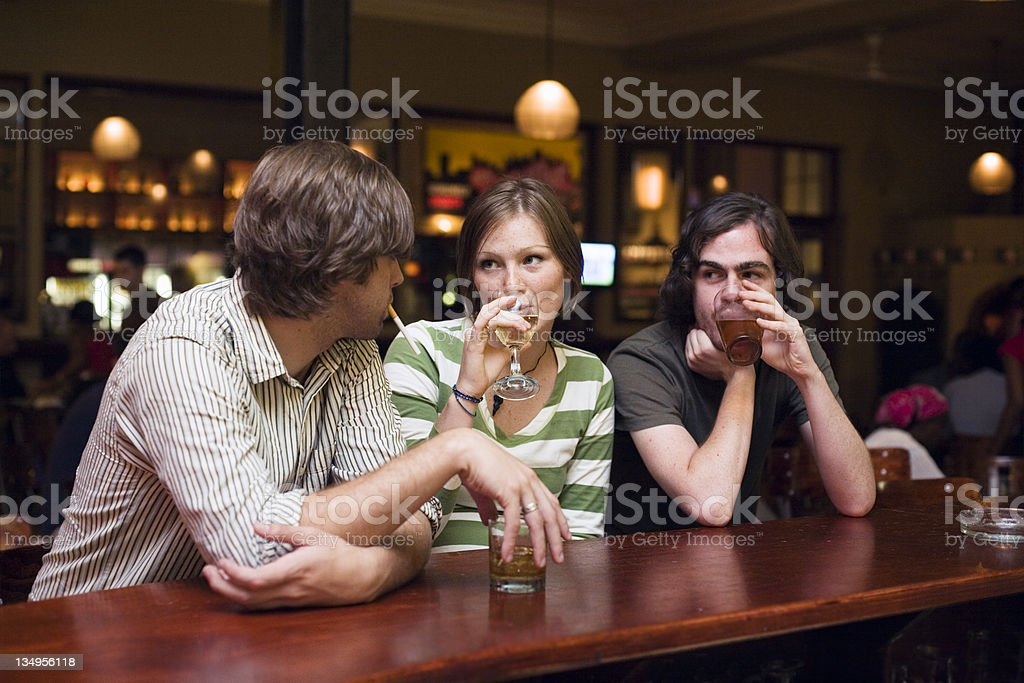 Out for a drink royalty-free stock photo