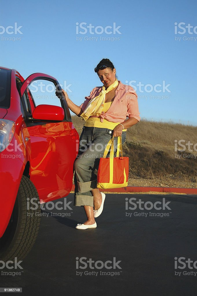 Out for a drive royalty-free stock photo