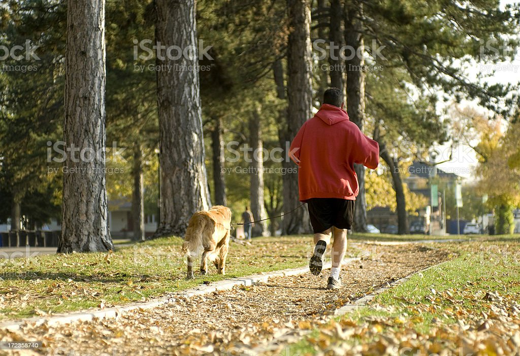 Out for a jog royalty-free stock photo