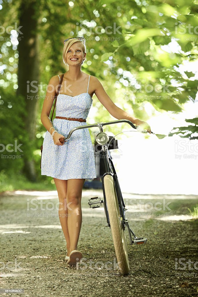 Out for a leisurely ride stock photo