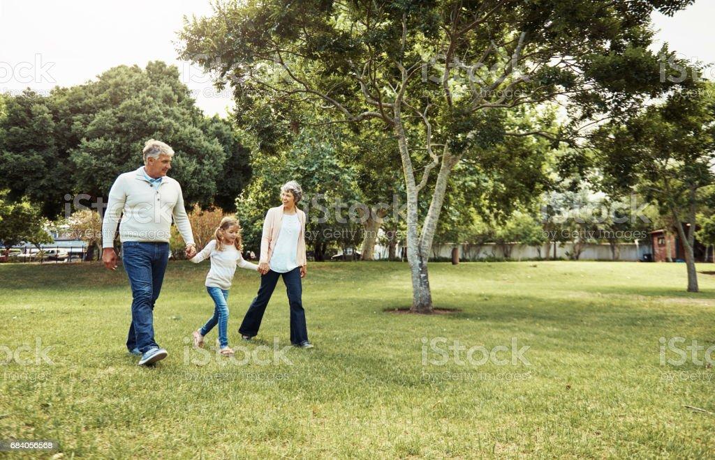Para un paseo por el Parque - foto de stock
