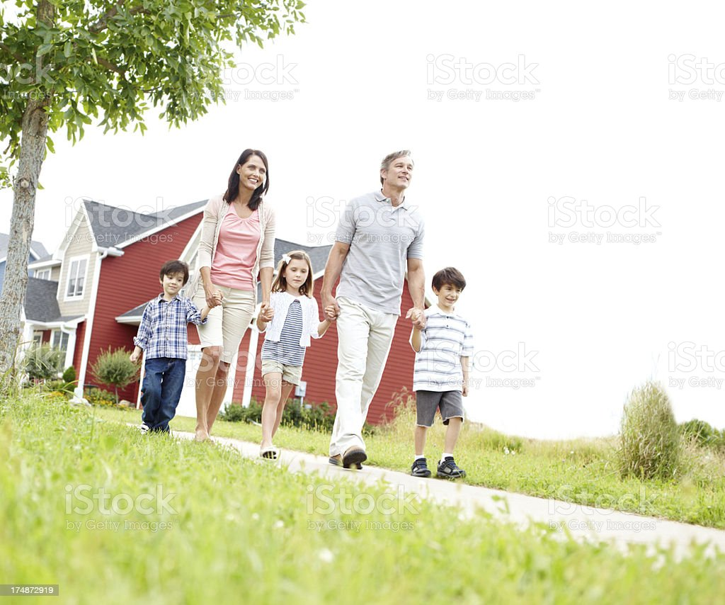 Out for a walk royalty-free stock photo
