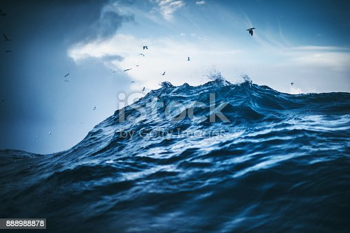istock Out in a rough North Sea 888988878