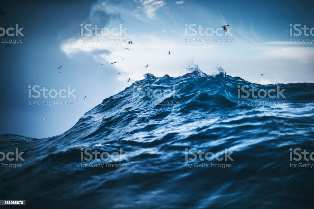 Out in a rough North Sea stock photo