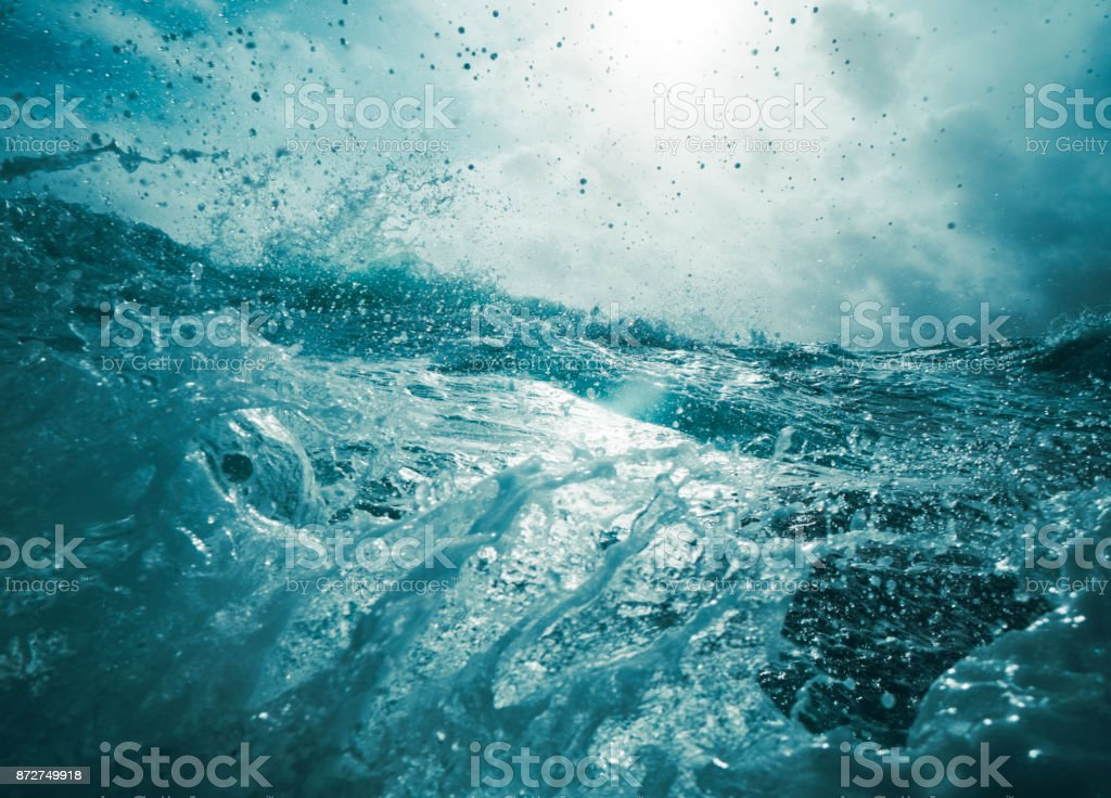 Out in a rough sea stock photo