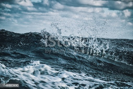 Out in a rough sea