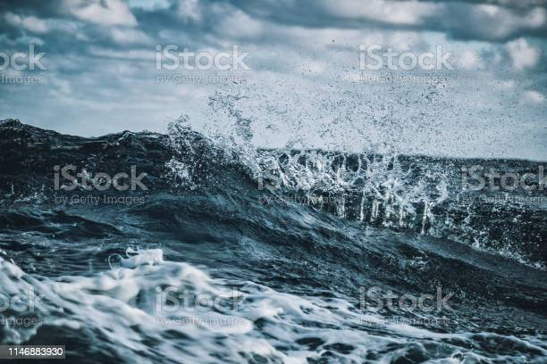 Photo of Out in a rough sea, waves crashing