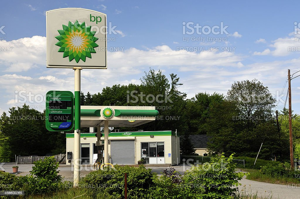 Out of Business BP Gas Station stock photo