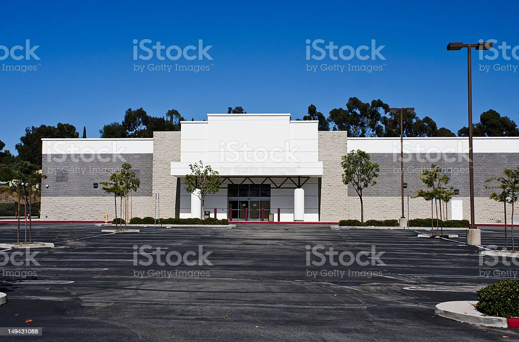 out of business empty store stock photo