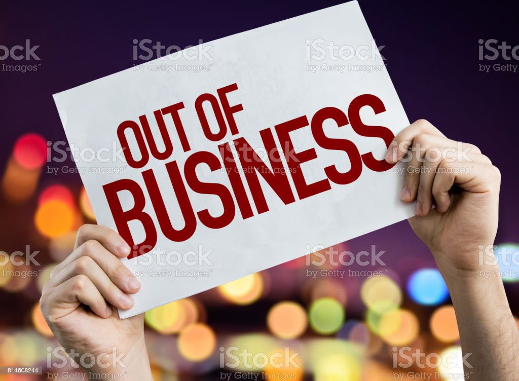 Out of Business stock photo