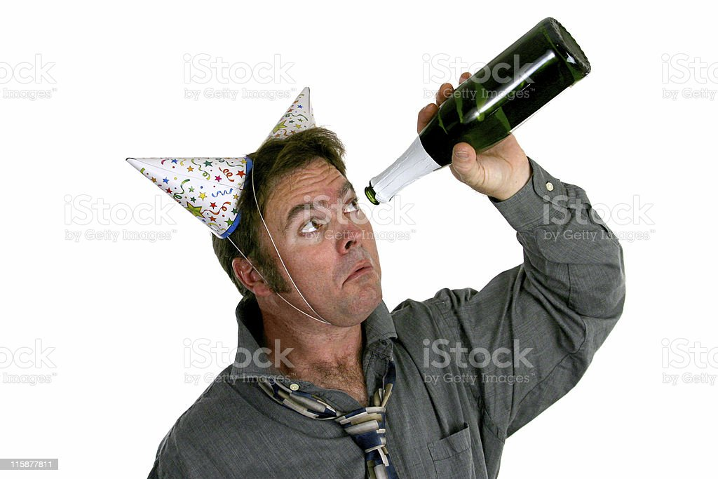Out Of Champagne royalty-free stock photo