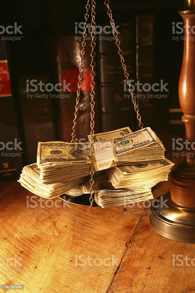 Out of Court Settlement royalty-free stock photo