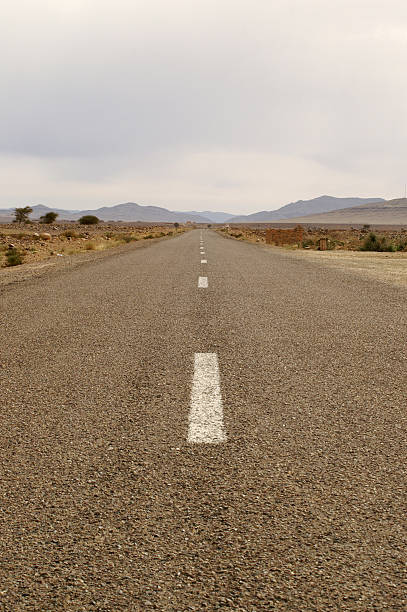 out of desert - dotted line stock photos and pictures