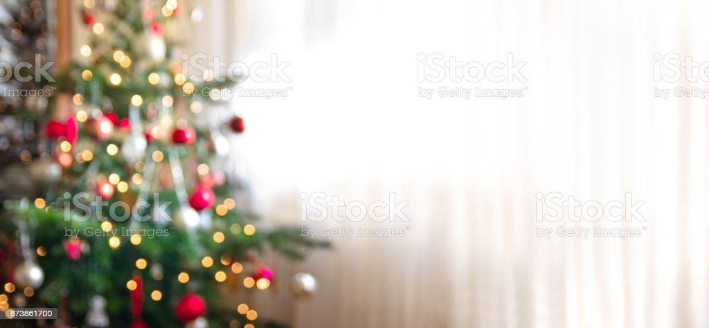 fundo de férias foco com árvore de Natal - foto de acervo