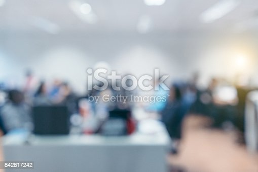 879125330 istock photo Out of focus Office Background 842817242