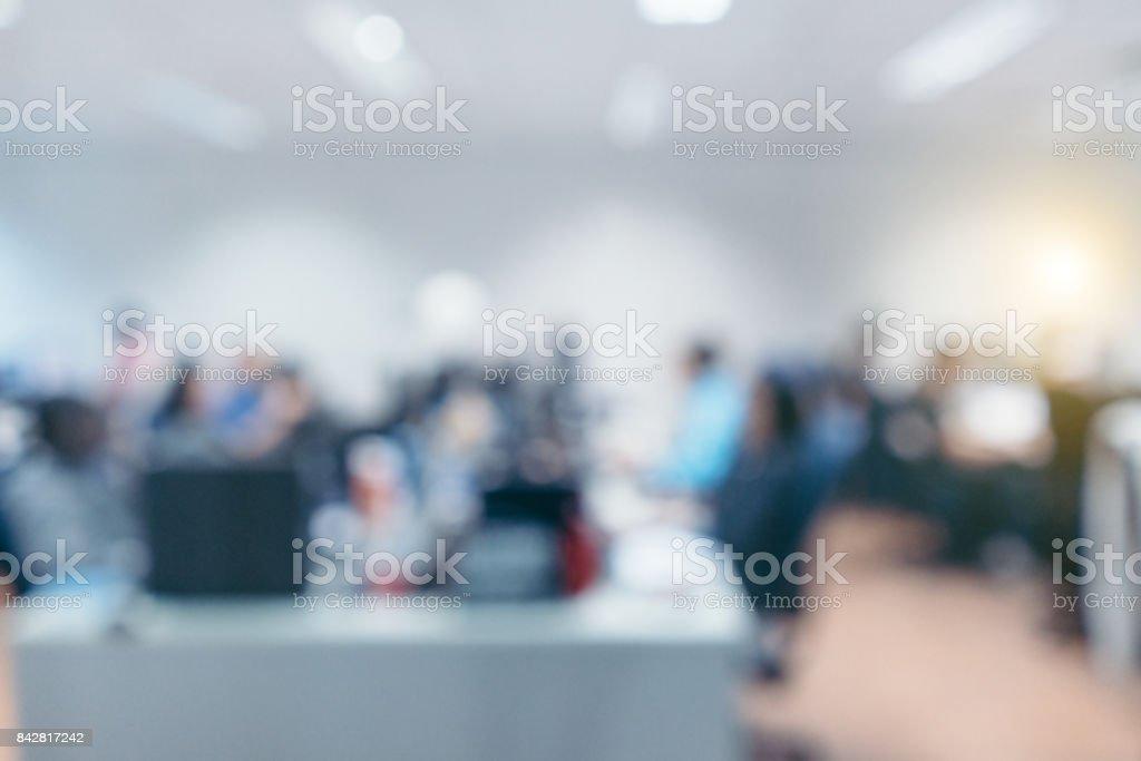 Out of focus Büro-Hintergrund – Foto