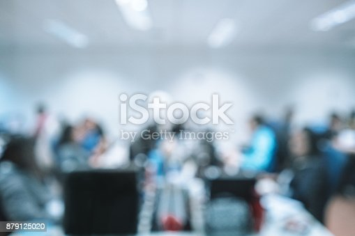 879125330 istock photo Out of focus Office Background 879125020