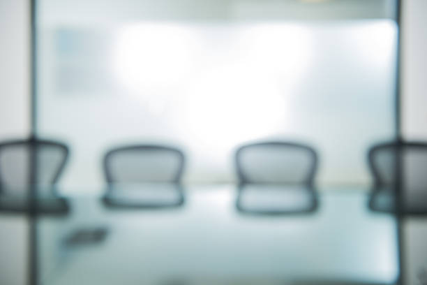 Out Of Focus Office Conference Room Background Stock Photo