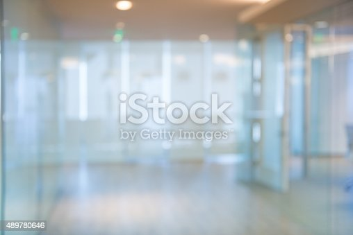 istock Out of focus Office Corridor Background 489780646