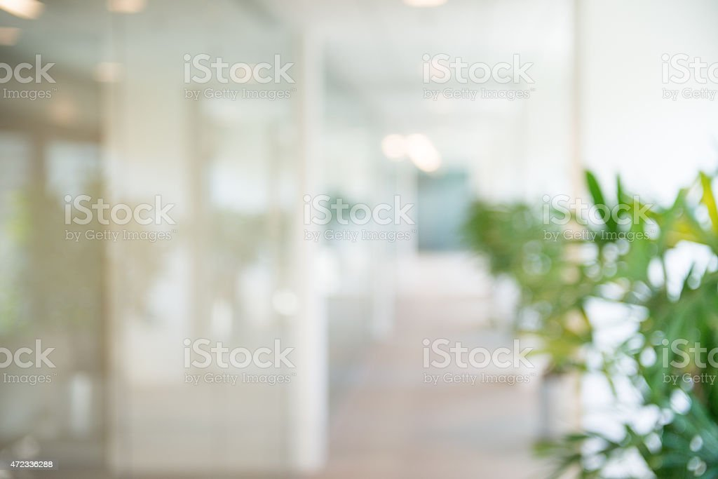Out of focus Office Open Corridor Background stock photo
