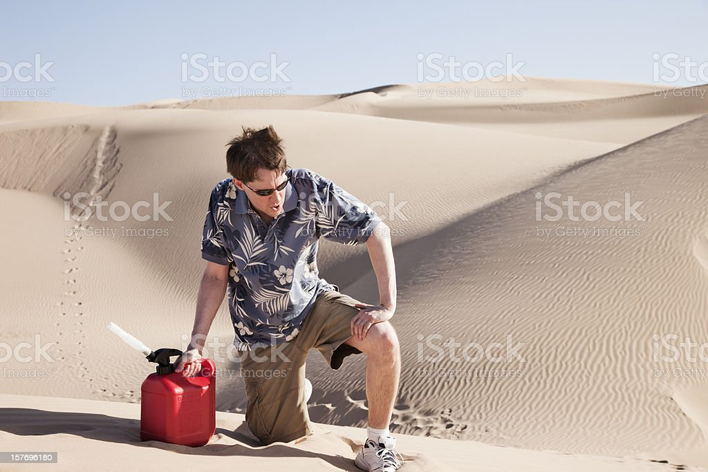 Out of Gas and Breath royalty-free stock photo