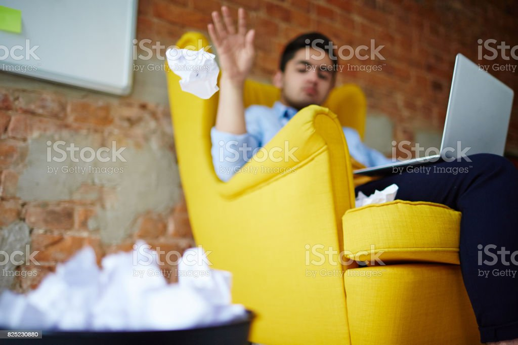 Out of ideas stock photo
