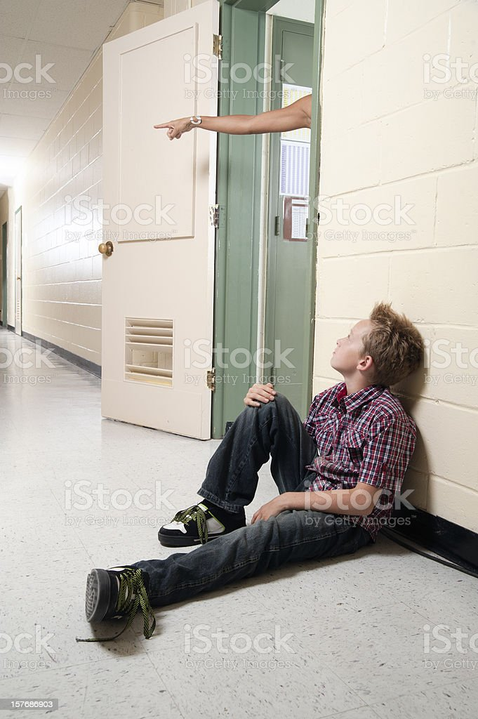 Out of my classroom! royalty-free stock photo