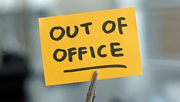 out of office - abwesenheit stock-fotos und bilder